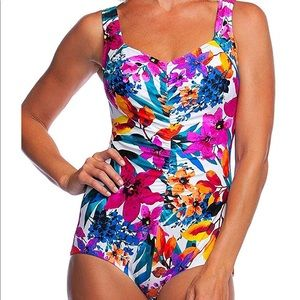 Maxine Hollywood Plus Size 24w Pin up Swimsuit